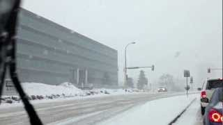FRESH SNOW FALL - Minneapolis, MN - 1-27-2013