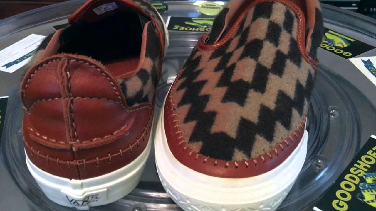 692881168f Vans Vault x Taka Hayashi Pendleton TH Slipon LX - Pair  2 - Brown colorway  - 12.12.2015