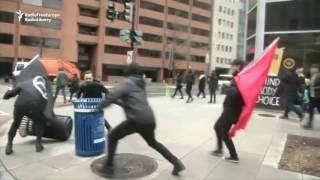 Inauguration Protest In Washington Turns Violent