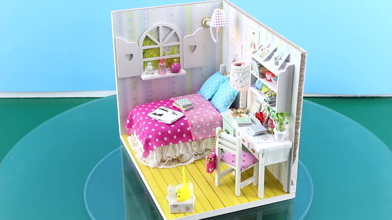 Diy miniature dollhouse kit with working lights annabelles room diy miniature dollhouse kit with working lights annabelles room youtube solutioingenieria Images