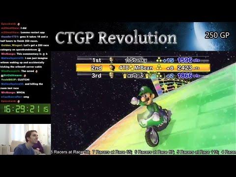 Mario Kart Wii - 250 Race Online GP! 16 hours of non-stop racing!