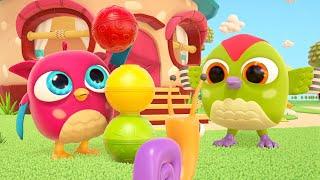 Совенок Хоп хоп и разноцветные шарики. Развивающие мультики для малышей  @Совенок Хопхоп