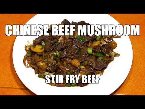 Chinese Beef Mushroom Stir Fry - Beef Wok - Beef Stir Fry - Chinese Beef Oyster Sauce
