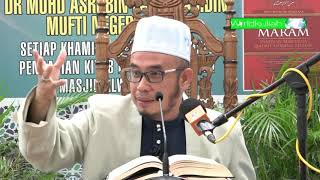 SS Dato Dr Asri-Jgn Buka Aib Org, Jgn Dedah Aib Sendiri