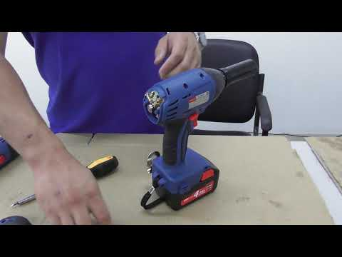 How to change carbon brushes on an Dongcheng Cordless Impact Wrench DCPB16E