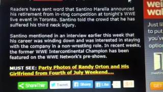 WWE RAW 07/7/14 - Santino Marella Retires From WWE