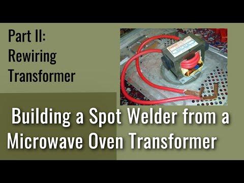 How to Build a Microwave Transformer Spot Welder: #2 Rewiring Transformer