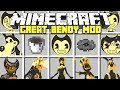 Minecraft GREAT BENDY AND THE INK MACHINE MOD | BENDY, BORIS, ALICE ANGEL & MORE! | Modded Mini-Game