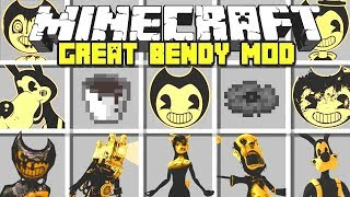 Minecraft : GREAT BENDY MOD - SUMMON IN BENDY, BORIS, ALICE ANGEL! (Ps3/Xbox360/PS4/XboxOne/PE/MCPE)