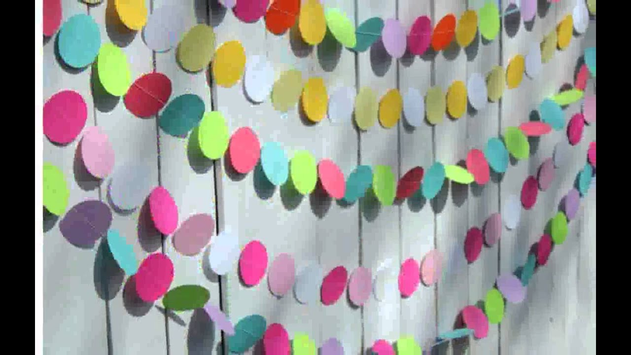Birthday decorations with paper youtube for Decoration paper