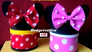 DIY Minnie & Mickey Mouse Foamy Candy Dish & pencil holder / Ronycreativa English Channel