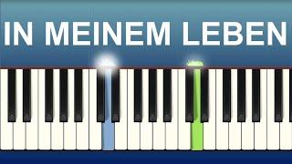 In meinem Leben - Nena - Klavier tutorial