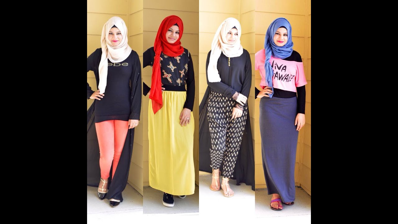 BACK TO SCHOOL OUTFITS / HIJABI OUTFITS 2015 - YouTube