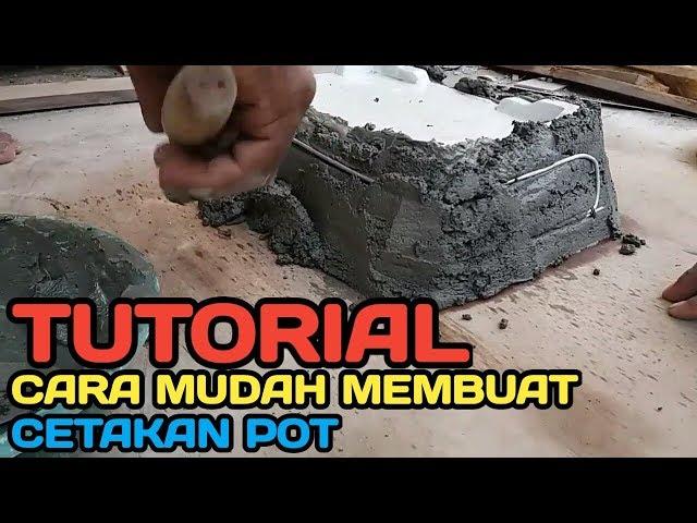 Tutorial cara mudah membuat cetakan pot   Lumajang - Jawa timur