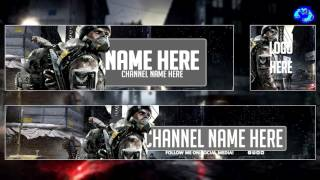 Free GFX: Template Tom Clancy's The Division (YouTube Banner, Avatar/Logo and Twitter Header 2016)