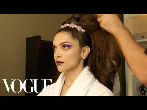 Deepika Padukone Gets Ready for the Met Gala | Vogue