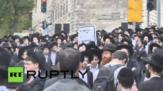 Israel: Cops brutally disperse Orthodox Jews protesting new conscription law