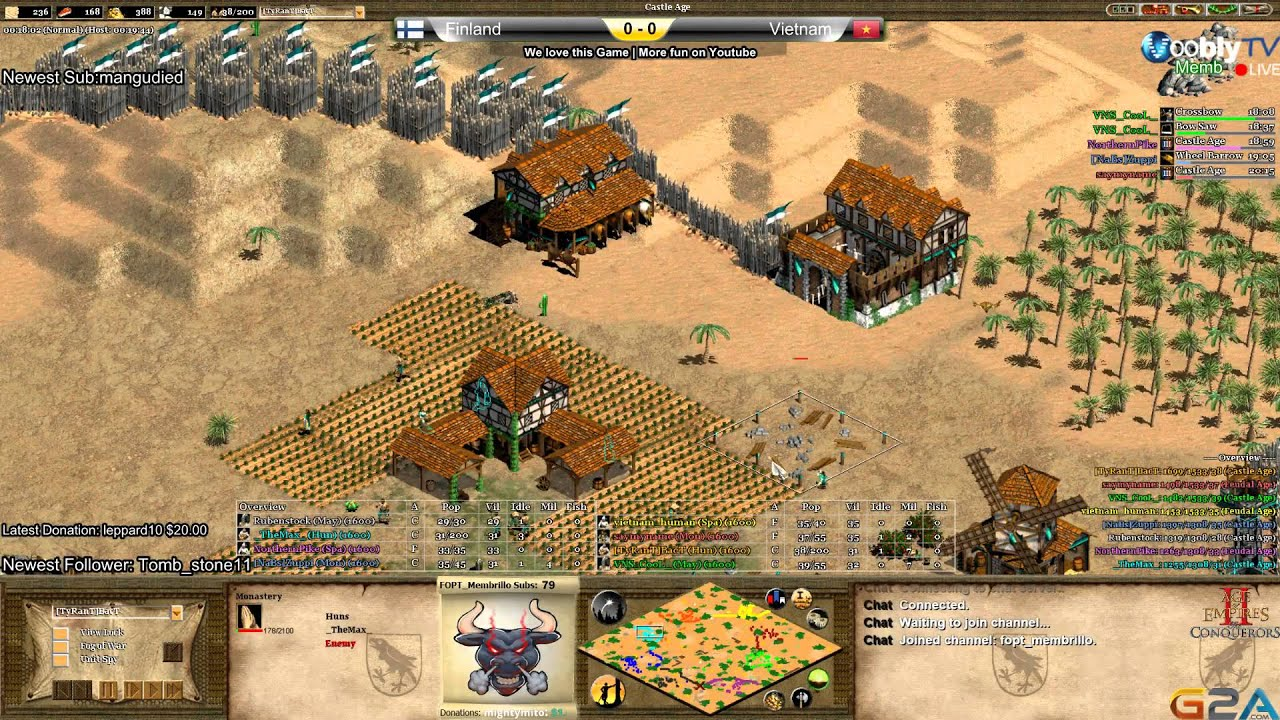Age of Empires 2 NC II 3rd Match place Finland vs Vietnam Game 1