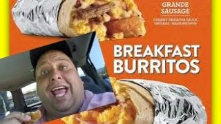Jack In The Box® Grande Sausage Breakfast Burrito Review!