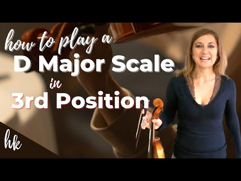 How to Play D Major Scale (2 octaves) in 3rd Position on the Violin