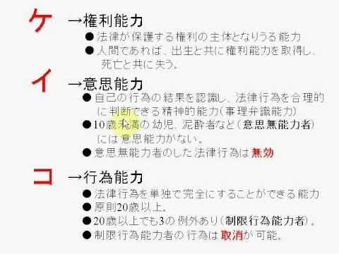 おしゃれ宅建主任動画講座(民法1:民法が定める能力2) - YouTube