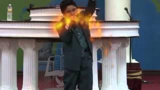 EL NIÑO PREDICADOR:LEVI RAMIREZ:RECIBIENDO FUEGO PARTE#1