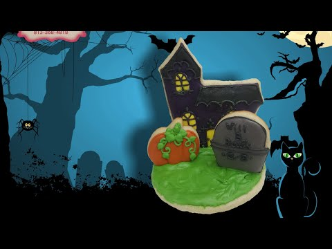 3D haunted house Halloween cookie (how to)