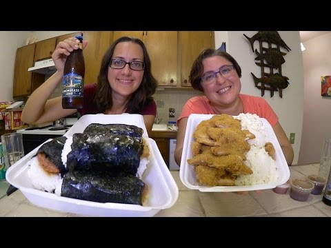 Spam Musubi And Chicken Katsu | Gay Family Mukbang (먹방) - Eating Show