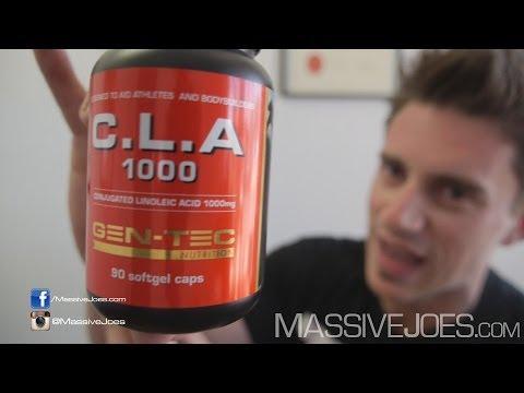 GEN-TEC CLA Conjugated Linoleic Acid Supplement Review - MassiveJoes.com RAW Review EFA GENTEC