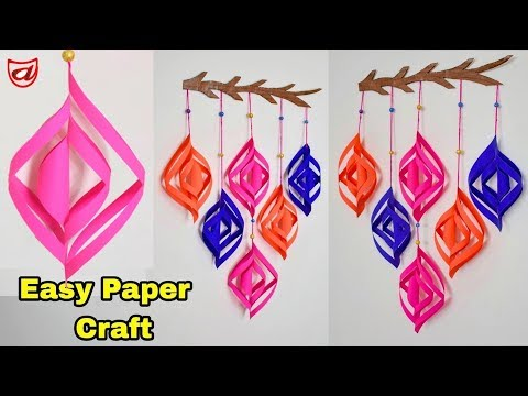 Beautiful Paper flower Wall Hanging | DIY Home Decoration craft ideas