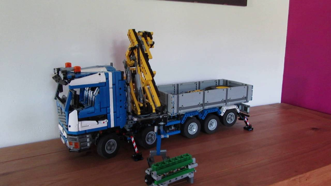lego technic moc camion grue 2 youtube. Black Bedroom Furniture Sets. Home Design Ideas