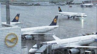 видео Lufthansa.Забастовка пилотов Люфтганзы и отмена рейсов 2 апреля 2014 г.