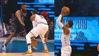 Paul George Schools James Harden Using His Step Back Move Then Calls Him Out For Travelling! thumbnail