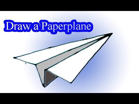 How To Draw A Paper Plane Paper Aeroplane Paper Airplane