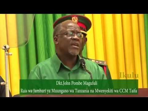 Hotuba ya Rais na Mwenyekiti wa CCM Taifa  Dodoma 23 Julai 2016