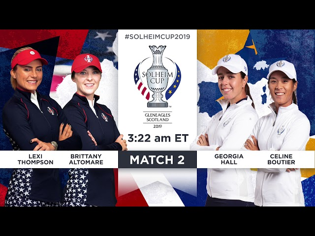 Friday Foursomes Match Preview - 2019 Solheim Cup