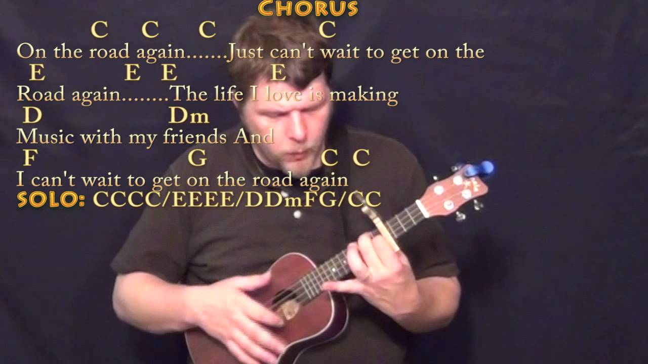 On The Road Again Willie Nelson Ukulele Cover Lesson With Chords