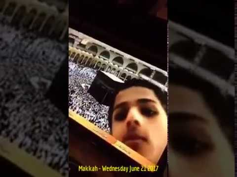 HiMY SYeD - Husayn Bassier(?) face in Live Video Camera, Makkah Saudi Arabia, Wednesday June 21 2017