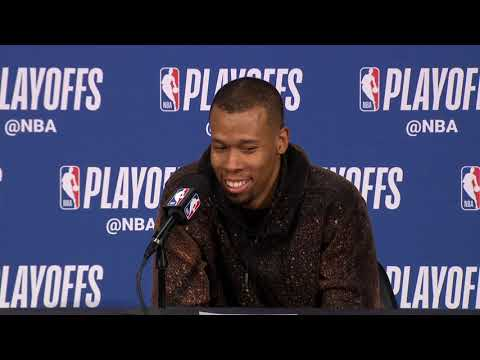 Rodney Hood Postgame Interview - Game 6   Nuggets vs Blazers   2019 NBA Playoffs