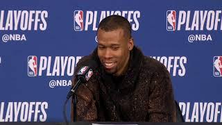 Rodney Hood Postgame Interview - Game 6 | Nuggets vs Blazers | 2019 NBA Playoffs