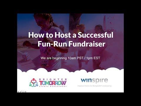 WEBINAR How to Host a Successful Fun Run Fundraiser