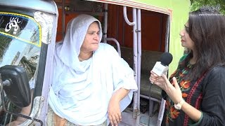Female Rickshaw Driver in Lahore