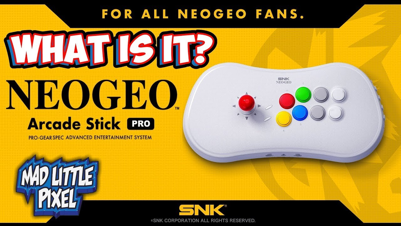 Neo Geo Arcade Stick Pro Officially Announced! New SNK