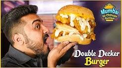 Uwiee's - DOUBLE Decker Chicken Burger - KFC Style Chicken -  S2 Ep 5 - Mumbai Ke Chhupe Rustam