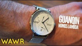 GUANQIN Nomos Lambda Homage Automatic Watch Review - $58!?!?