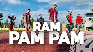 RAM PAM PAM by Natti Natasha ft Becky G | Zumba | Cumbiaton | TML Crew Kramer Pastrana