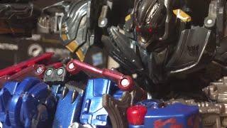 Transformers stopmotion  Optimus Vs Megatron ( 2007 ) stopmotion ( wear headphones) 900 sub special
