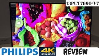 Philips 4K TV Review. || Philips 43PUT7690/V7 || Philips 4K Smart TV Review (ENGLISH)