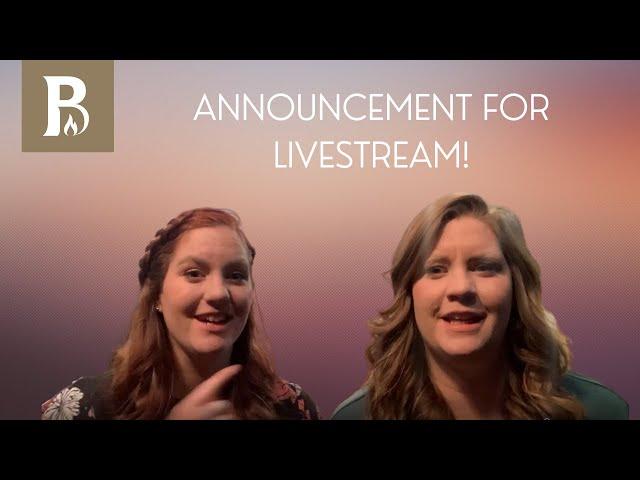 ANNOUNCEMENT: No Livestream today!