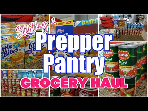 STARTING A PREPPER PANTRY | PREPPER PANTRY GROCERY HAUL 2021 | PUBLIX BOGO GROCERY HAUL